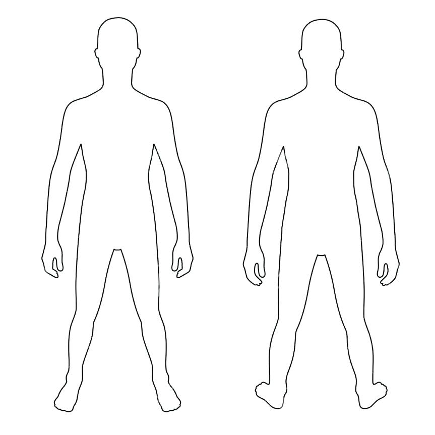 Body clipart human body. Extremely creative outline cilpart