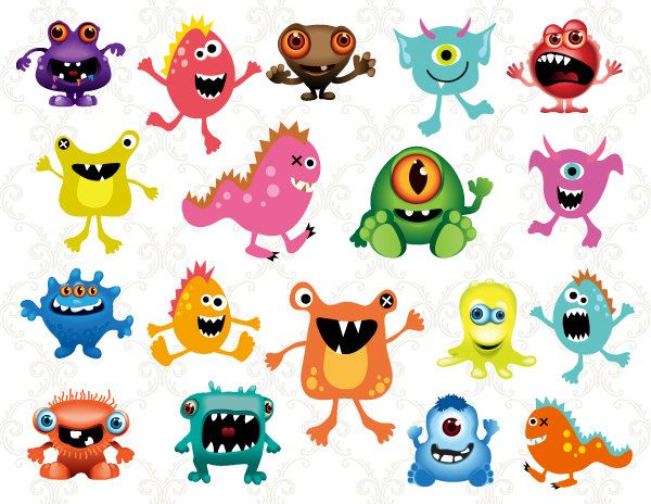 Instant download clip art. Body clipart monster