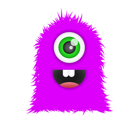 Create a cute furry. Body clipart monster