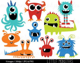 Monsters clip art birthday. Body clipart monster