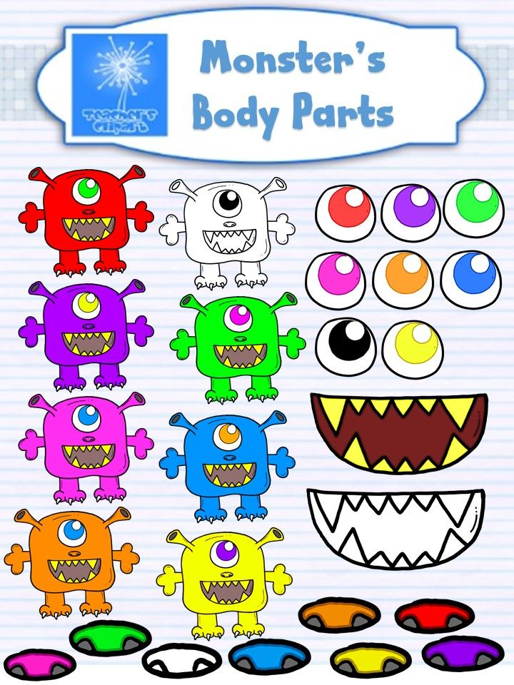 Body clipart monster. S parts clip art