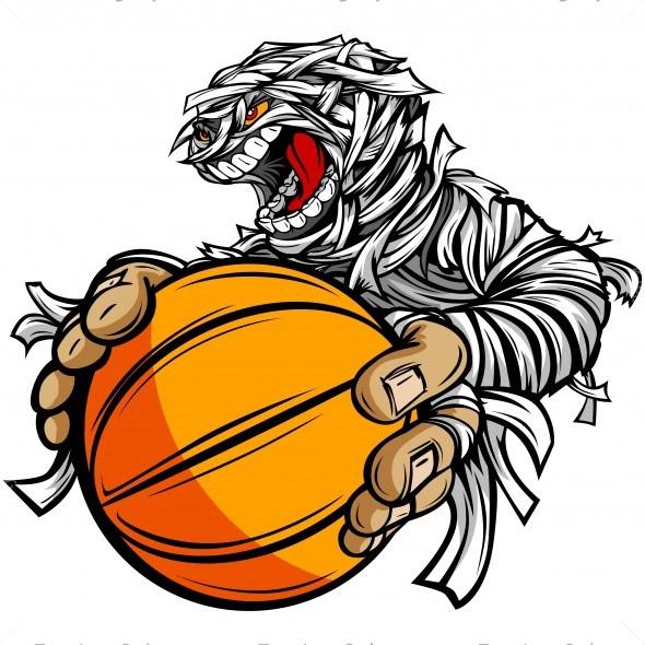 Body clipart mummy. Basketball clip art vector