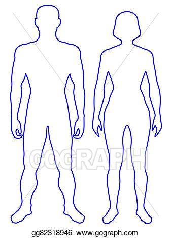 Body clipart person. Vector art human drawing