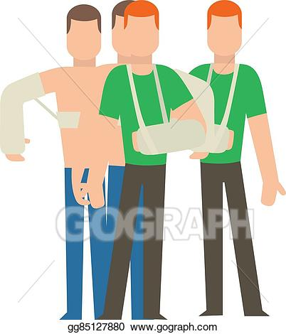 Vector art multiple injury. Body clipart person