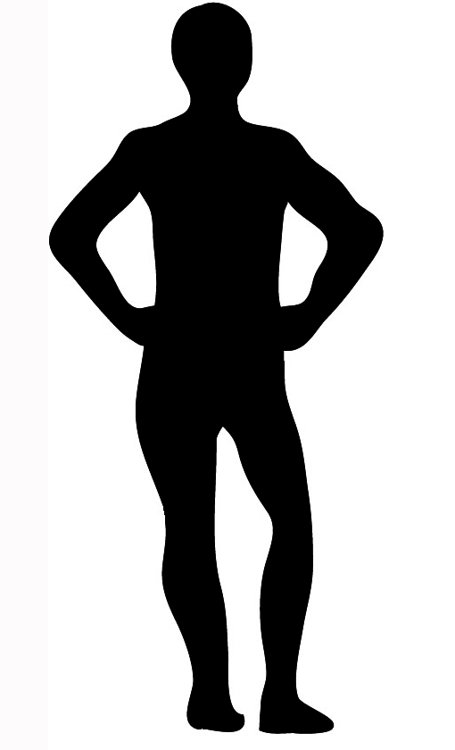 Body clipart person. Silhouettes silhouette back of