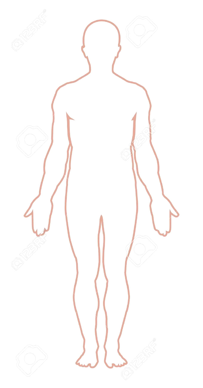 Body clipart person. Man outline rescuedesk me