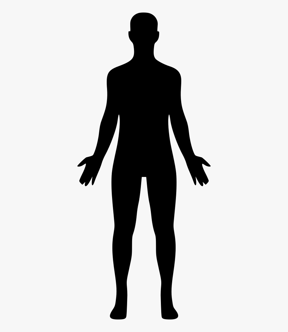 Human icon png silhouette. Body clipart person