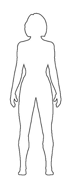Human anatomy outline printable. Body clipart plain