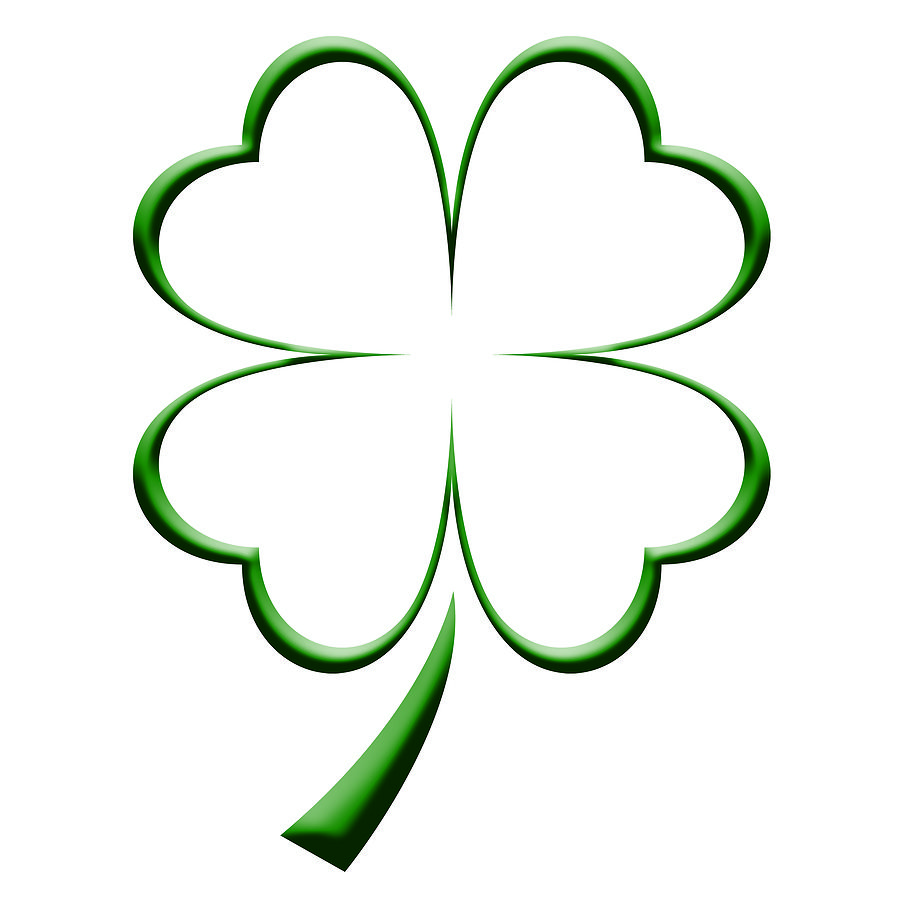 Body clipart plain. Ideas four leaf clover