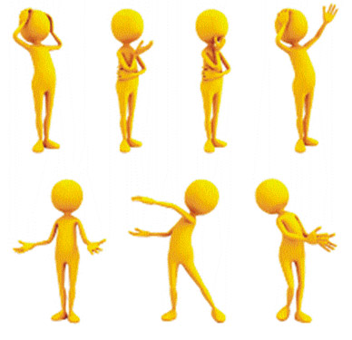 Body clipart posture. Significance of language dressing