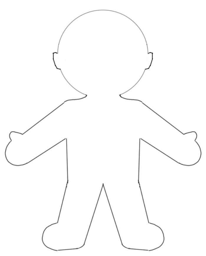 Template incep imagine ex. Body clipart printable