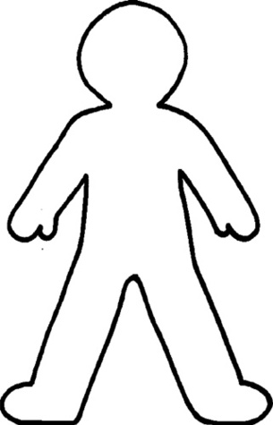 Body clipart printable. Human outline free download