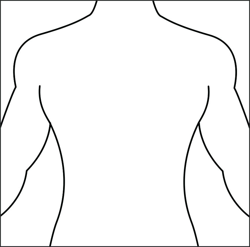 Body clipart printable. Outline of a human