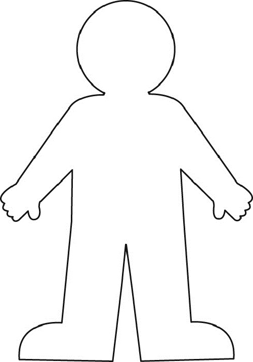 Free human body printable. 3 clipart outline