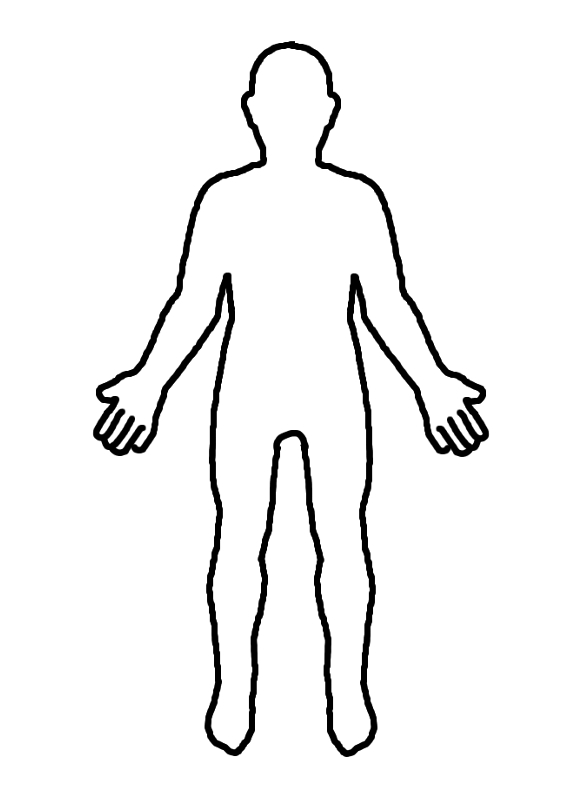 Body clipart printable. Outline incep imagine ex