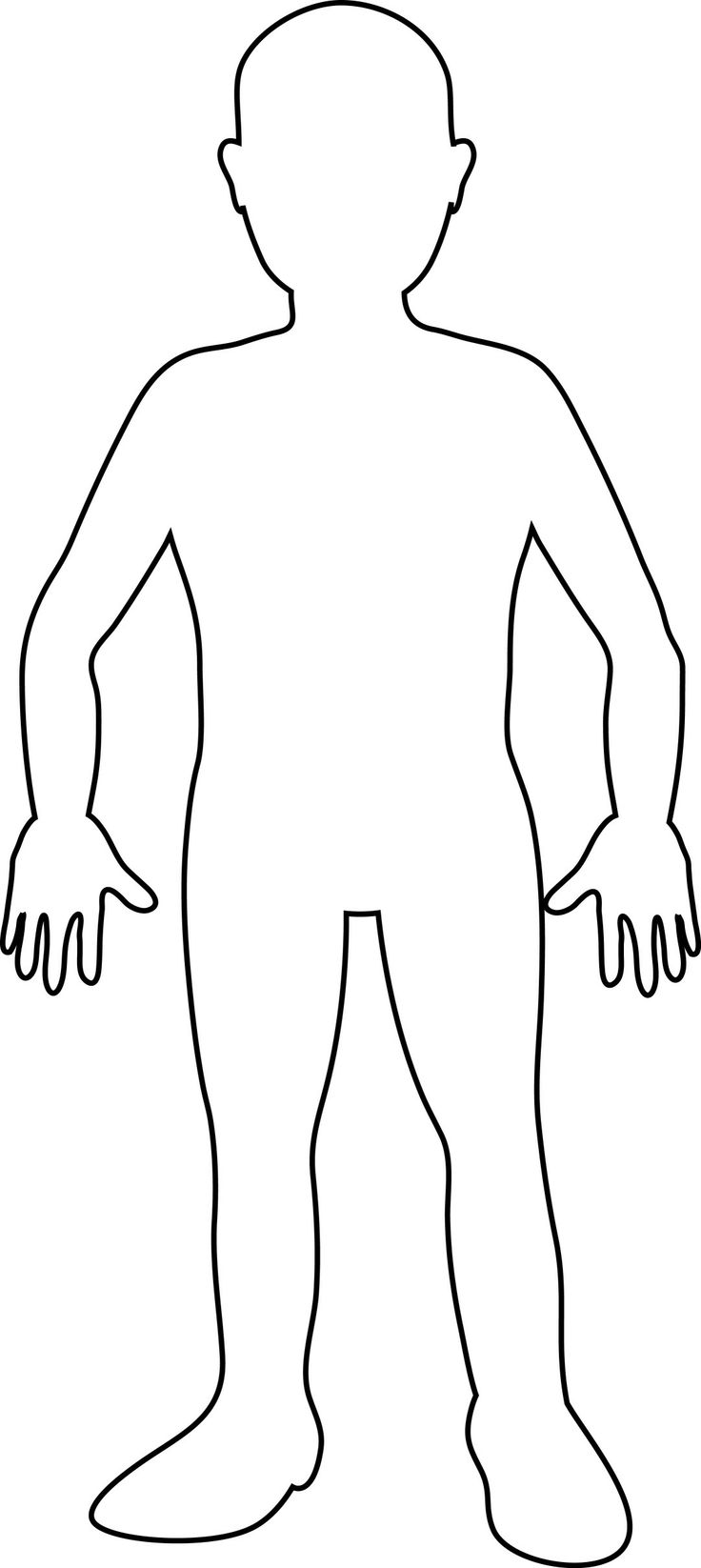 Body clipart printable. Free human outline download