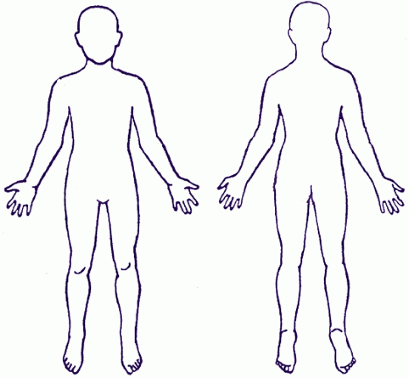Human outline best x. Body clipart printable