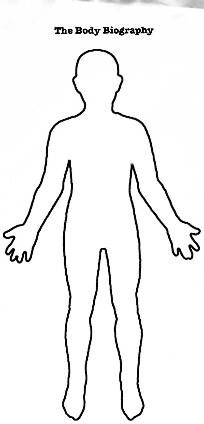 Free human outline download. Body clipart printable