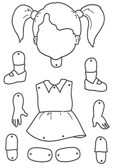 Body clipart puzzle. Parts coloring pages for