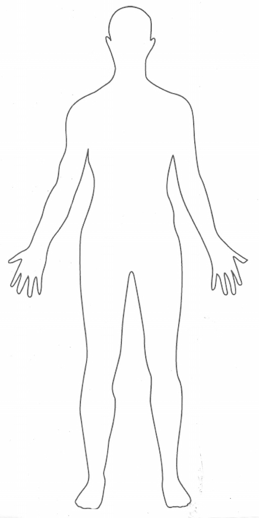 collection of drawing. Body clipart simple human