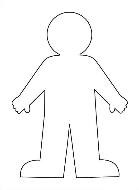 Body clipart simple human. Blank outline incep imagine