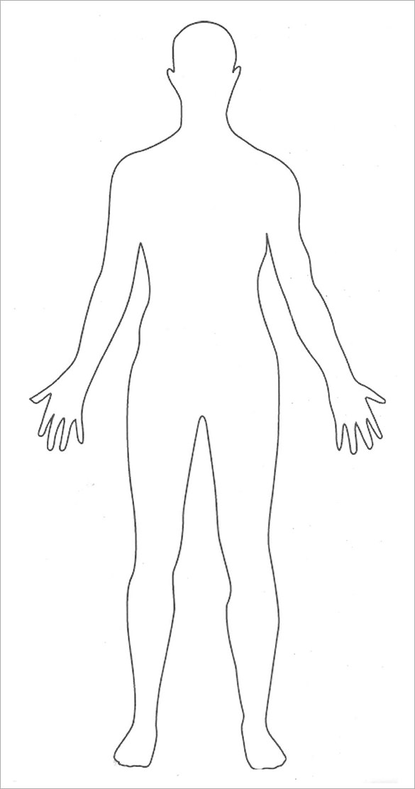 Outline incep imagine ex. Body clipart simple human