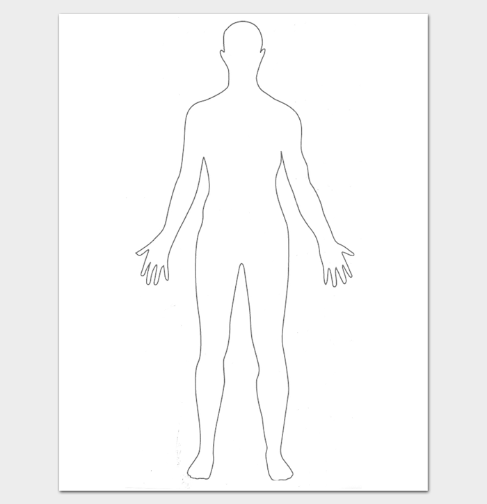 Outline zaloy carpentersdaughter co. Body clipart simple human