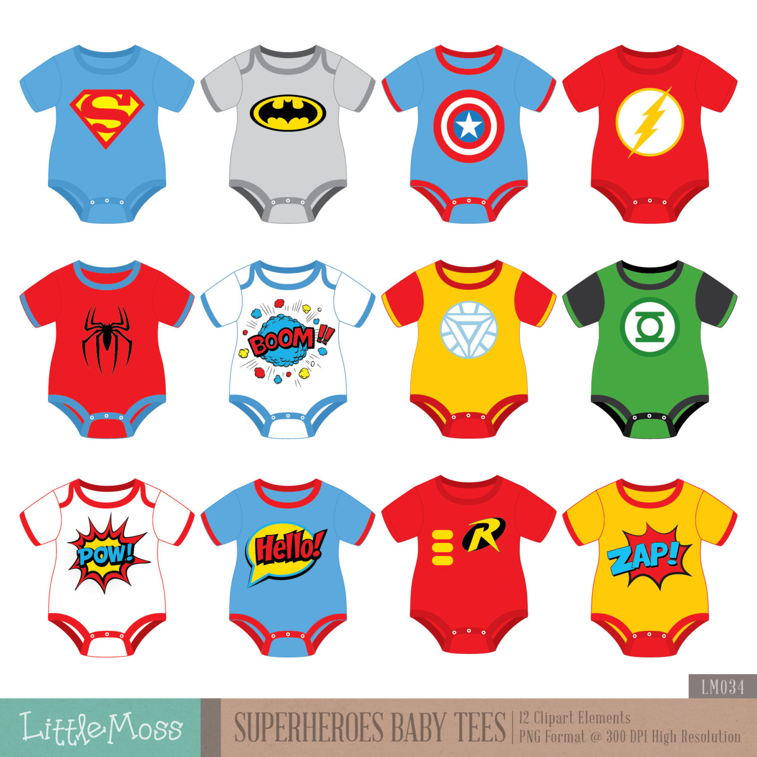 Superheroes baby tees bodysuit. Body clipart superhero