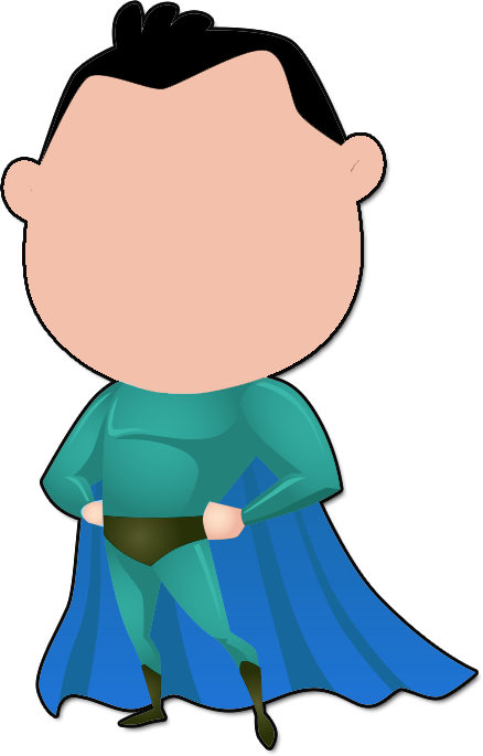 Body clipart superhero. Create your own character