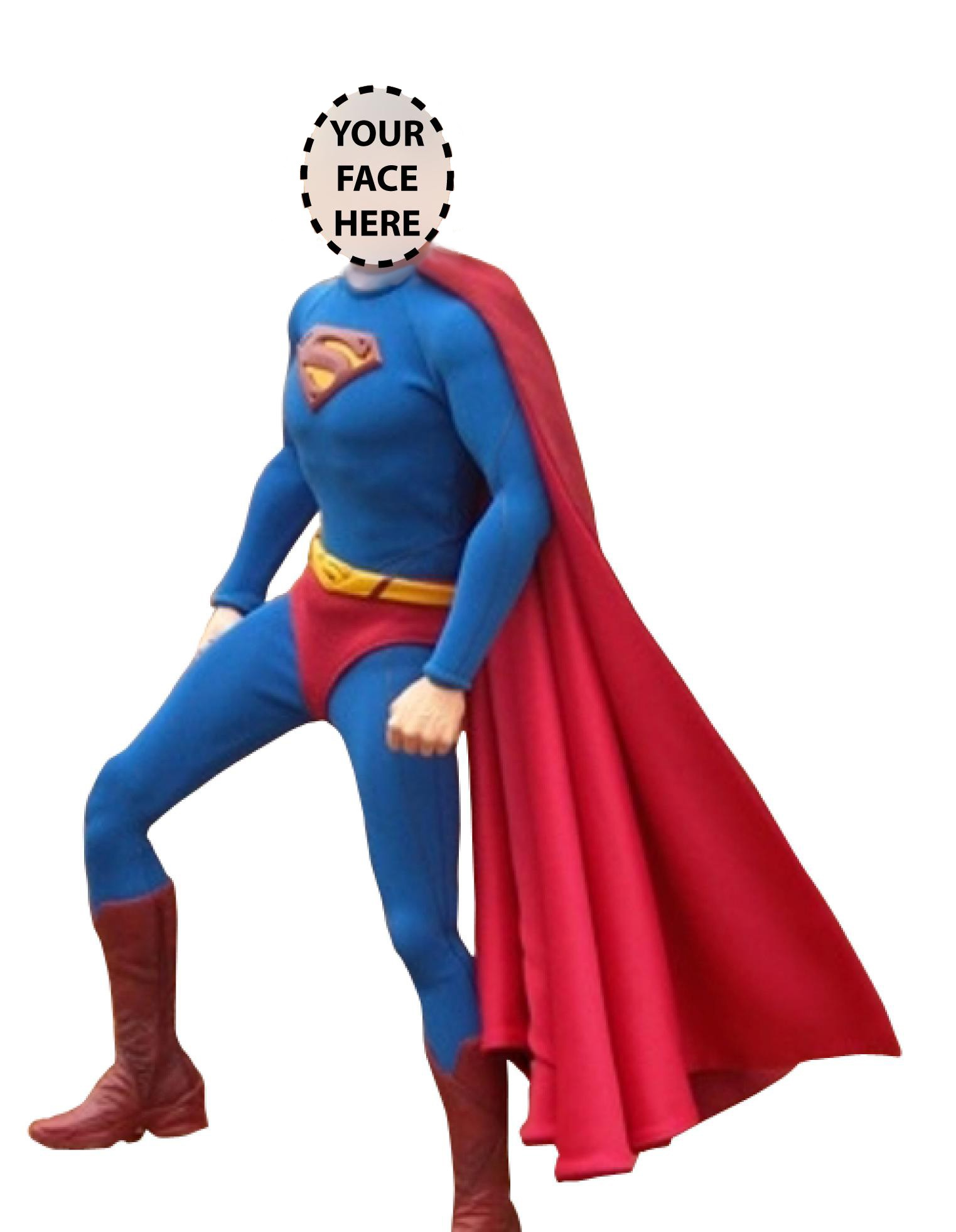 Personalized superman action figure. Body clipart superhero