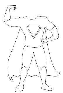 Body clipart superhero. Juf sanne lesidee kinderboekenweek