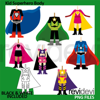 Kid . Body clipart superhero