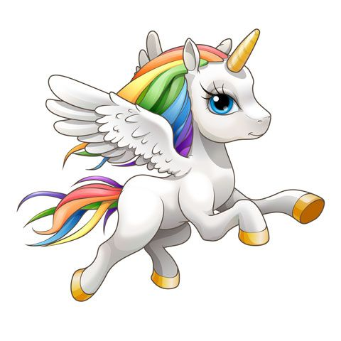 B licorne arc en. Body clipart unicorn
