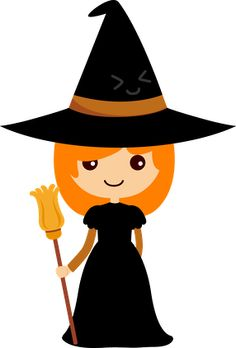 Bruja de papel pinteres. Witch clipart body