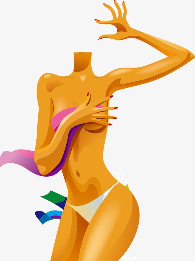 Body clipart woman. Brown complexion vector color