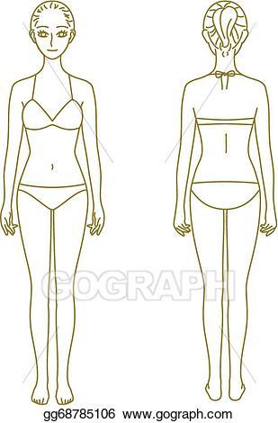 Vector illustration model eps. Body clipart woman