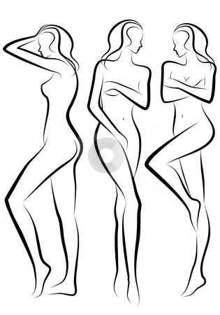 Female collection vector stock. Body clipart woman