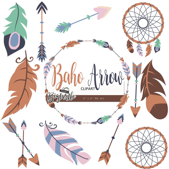 Boho clipart.  off sale arrow