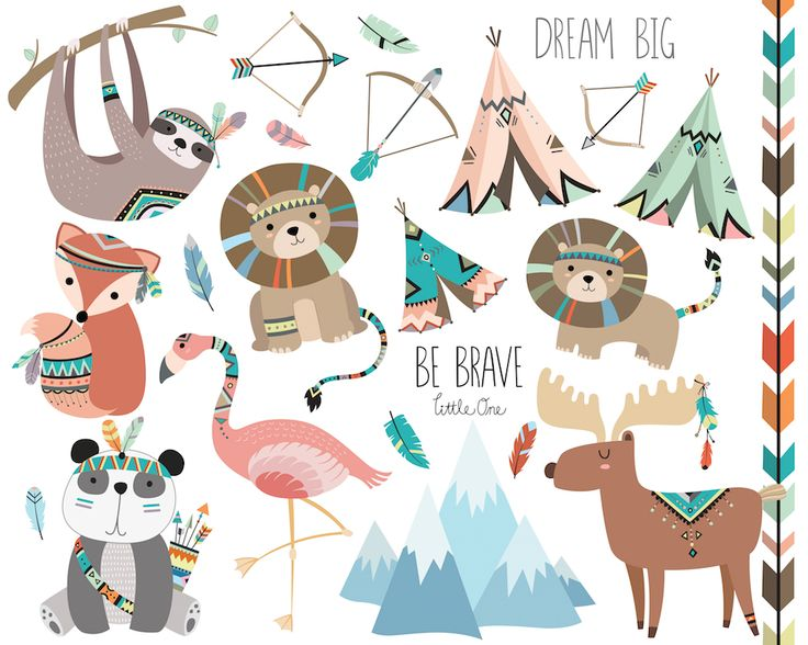 Boho clipart animal.  best images on
