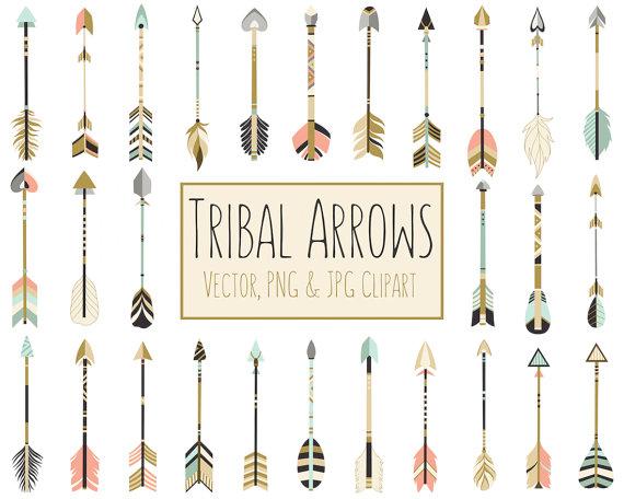 Tribal arrows dpi vector. Boho clipart arrow