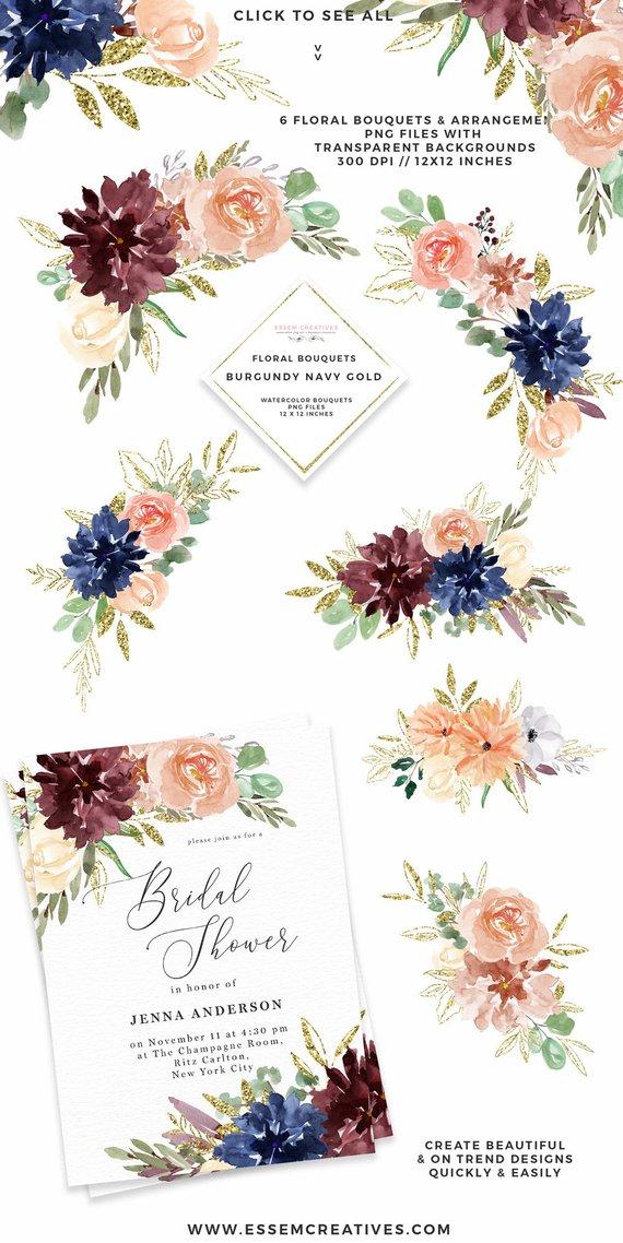 Bouquet clipart 4 flower. Watercolor flowers boho fall