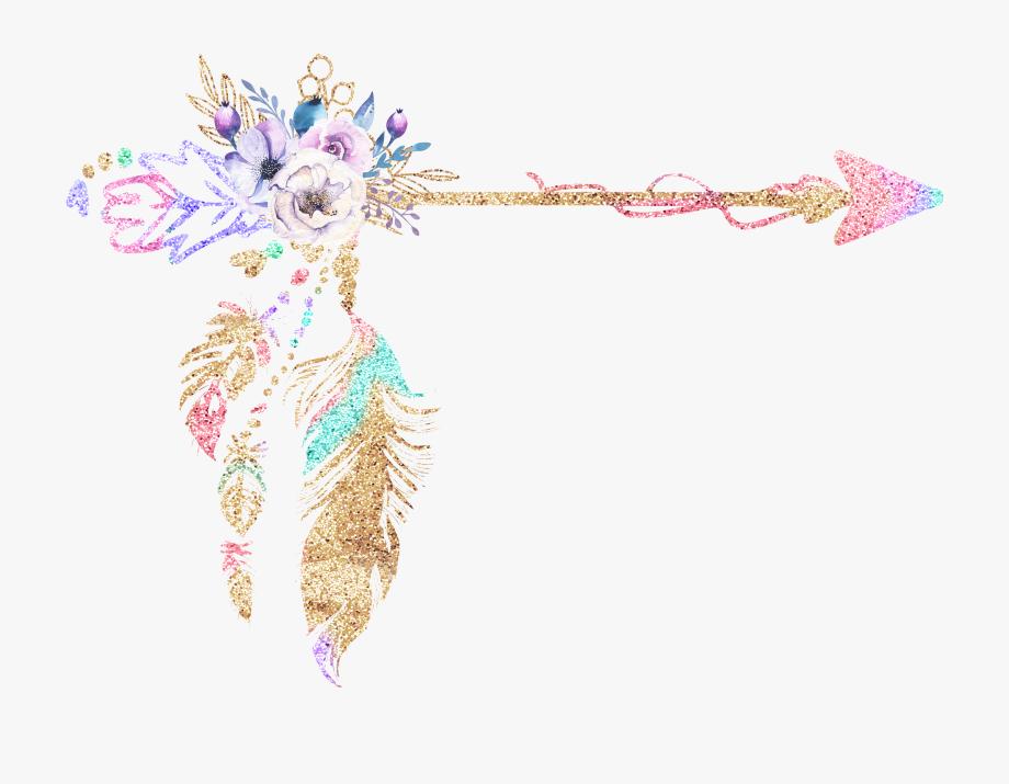 Boho clipart boho background. Svg feather transparent arrow