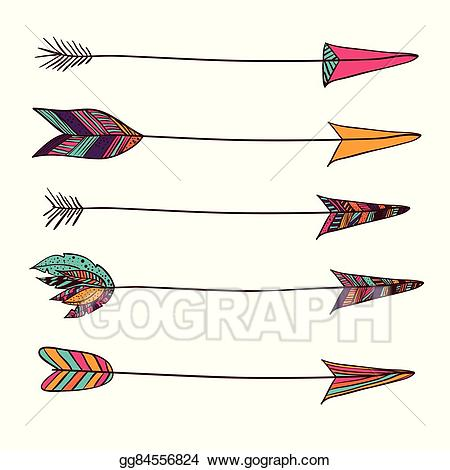 Vector stock style illustration. Boho clipart boho design