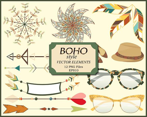 Boho clipart boho style. Tribal feather arrow clip
