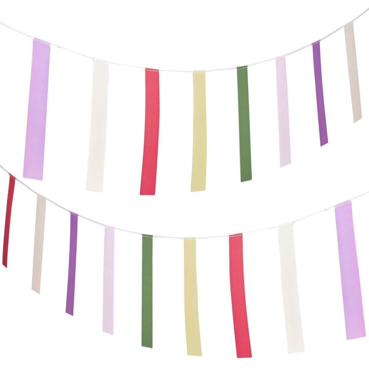 Ginger ray colourful m. Boho clipart bunting