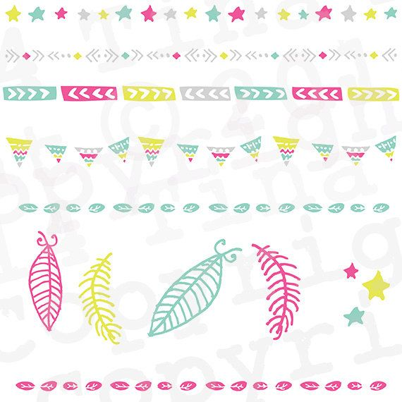 Boho clipart bunting. Dreamcatcher feather tribal clip