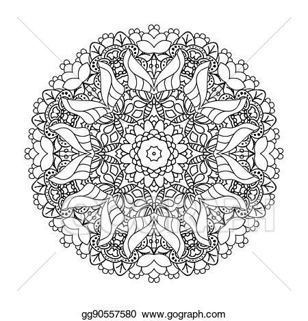 Eps vector mandala ethnic. Boho clipart circle