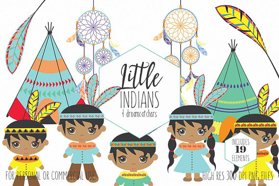 Boho clipart cute. Native american indian for