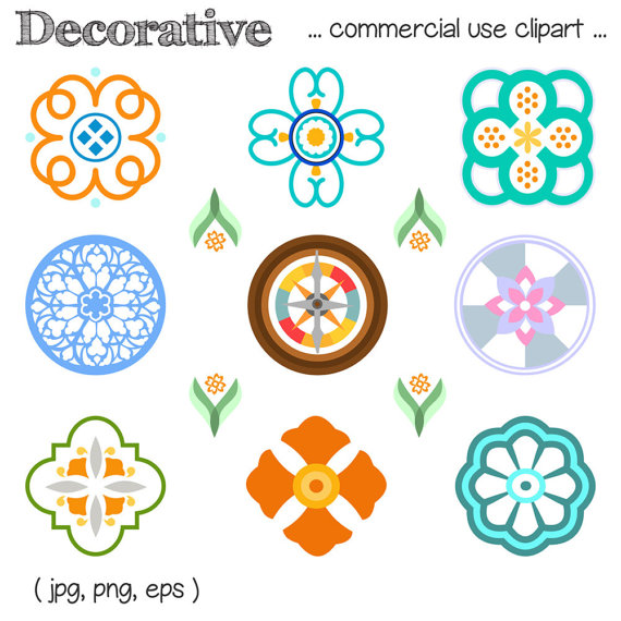 Decorative bohemian . Boho clipart element