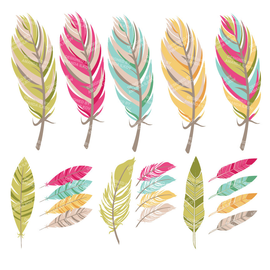 Creative clipart bohemian feather. Free cliparts download clip